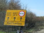 Fahrspuren auf dem M25 südlich von London