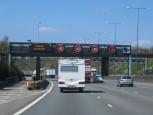 Stauwarnung auf dem Motorway 25 bei London
